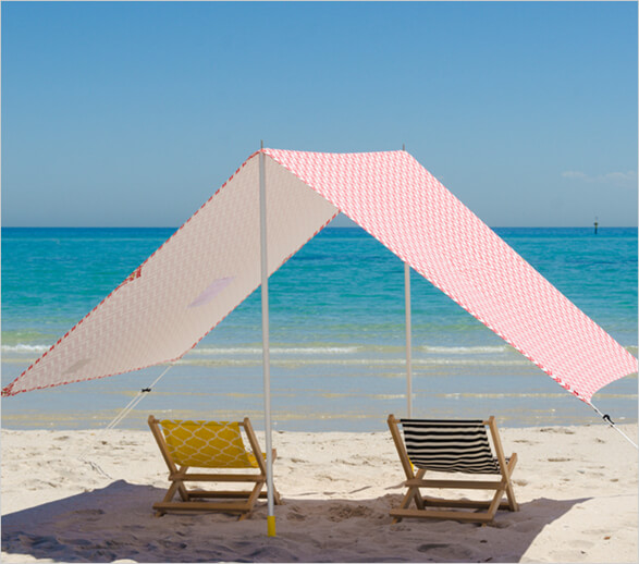 Unlike the average tent contraption you find precariously pegged-in at the beach this chic and elegant construction allows a cool breeze to funnel through ... & BEAR u0026 BEAR | Lovin Summer Beach Tents and Accessories